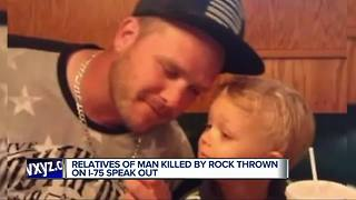 Family devastated by death of man killed by rock thrown from overpass - Video