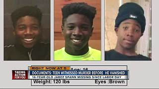 Police confirm Jabez Spann, missing since Labor Day, may have witnessed a murder - Video