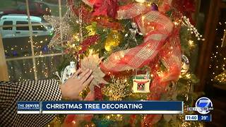 Christmas tree decorating - Video