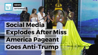 Social Media Explodes After Miss America Pageant Goes Anti-Trump - Video