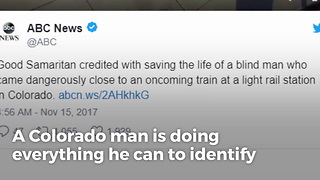 Blind Grandfather Is Asking For The Public's Help Finding The Stranger Who Saved His Life - Video