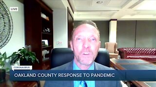 County Executive Dave Coulter speaks on COVID-19 efforts in Oakland County