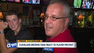 Cleveland Browns fans react to player protest - Video