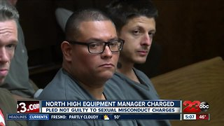 North High equipment manager pleads not guilty to multiple sexual misconduct charges