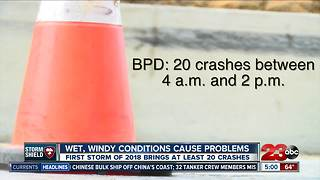 Wet weather causes problems on Kern County roadways