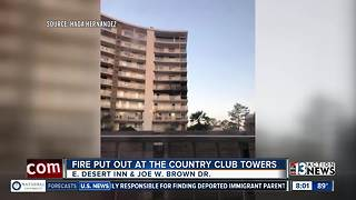 Fire at Country Club Towers