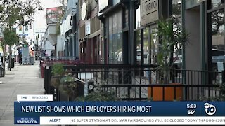 New list shows which San Diego employers hiring most