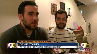 Orphan's Thanksgiving creates family for a day - Video