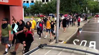 Tampa protesters march through downtown