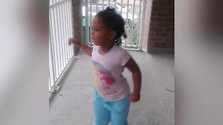 Adorable Girl Loves Dancing - Video