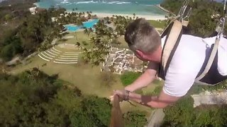 Man Takes On Scariest Zip-Line Ride Ever - Video