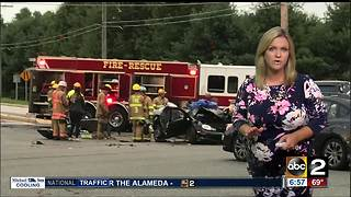 1 injured in head-on collision on Rt. 1 in Bel Air - Video