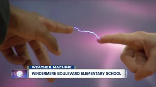 Andy Parker's Weather Machine visits Windermere Blvd Elementary