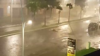 Hurricane Maria Brings Strong Wind Gusts to Pointe-a-Pitre - Video