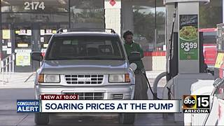 Gas prices on the rise around the Valley