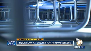 Exclusive look inside at shelter for asylum seekers