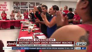 UPDATE: Culinary Union reaches agreement with Stratosphere - Video