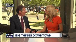 Tom Wilson talks progress of New Downtown arena and district detroit - Video
