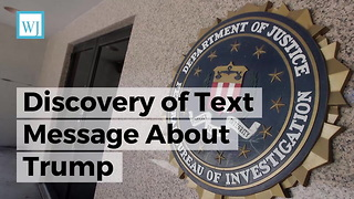 FBI Agent Immediately Removed After Discovery of Text Message About Trump - Video