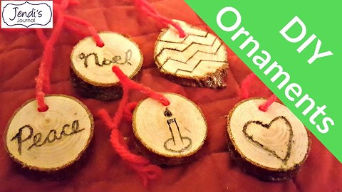 How To Make Wood Slice Ornaments | Pinterest Challenge | Jendi's Journal