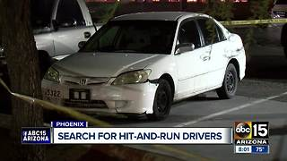 Man struck, killed by 2 hit-and-run drivers in Phoenix