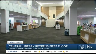 Central Library reopens first floor today