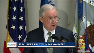 PolitiFact Wisconsin: Is Murder up 57% in Milwaukee? - Video