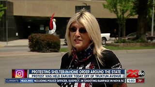 Local residents protest stay-at-home order