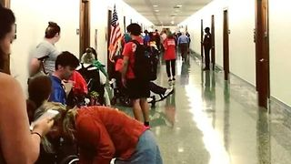 Protesters Chant 'Kill the Bill, Don't Kill Us' Outside Healthcare Hearing - Video