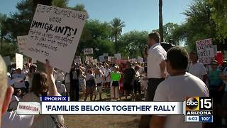 'Families Belong Together' rally held in Phoenix Saturday - Video