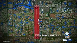 Gas leak stopped after closing traffic on 441 in suburban Boca Raton - Video