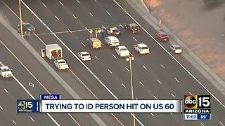 DPS trying to identify man hit by car on US-60 - Video