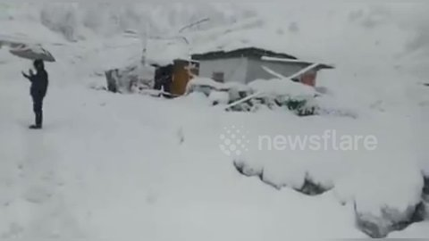 Avalanches bury major highway tunnel in India, triggering rescue effort