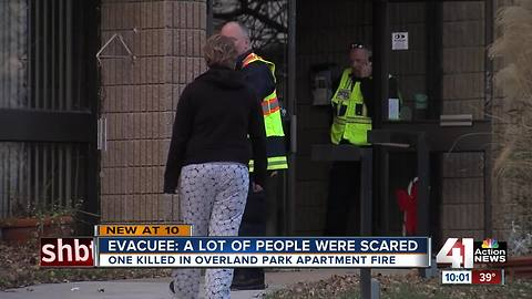 One woman dies in Overland Park apartment fire