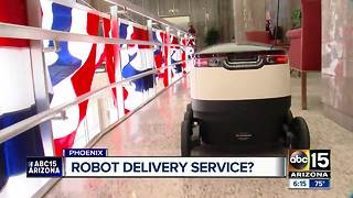 Would you use a robot for delivery services? - Video