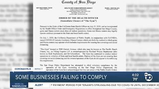 Businesses failing to comply