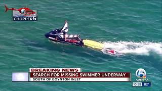 Crews search for missing swimmer off Boynton Inlet