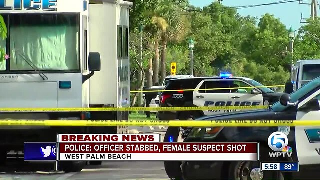 Officer stabbed, suspect shot in West Palm Beach on North Flagler Drive