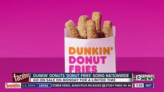 Dunkin Donuts offering Donut Fries - Video