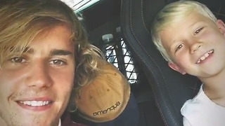 Watch: Goofy Justin Bieber Shares ADORABLE Time With Little Brother Jaxon - Video