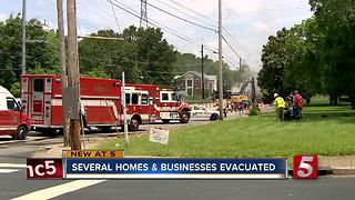 Gas Leak Prompts Evacuations, Road Closure - Video