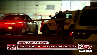 Suspect dies after standoff in Catoosa - Video
