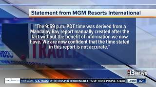 MGM Resorts statement about October 1 Vegas mass shooting timeline