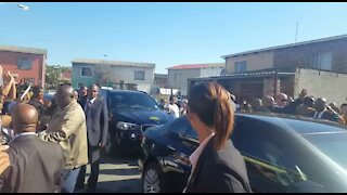 UPDATE 1: President Zuma arrives to visit family of murdered Courtney Pieters (EwF)