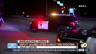 Deputy injured after chase, shooting - Video