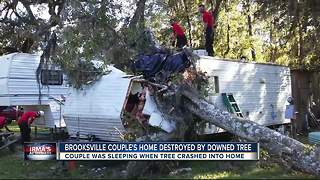 Brooksville couple's home destroyed by downed tree - Video