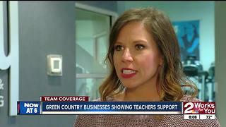 Businesses show support for teachers - Video