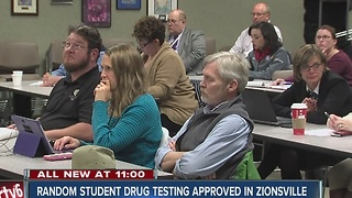 Random student drug testing approved in Zionsville - Video