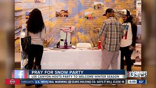 Lee Canyon, Skye Canyon host Pray for Snow party - Video