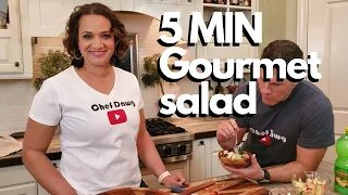 How to make Restaurant Style Salad With Everyday Costco Ingredients | Chef Dawg